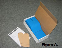 Orthotic impression kit contents