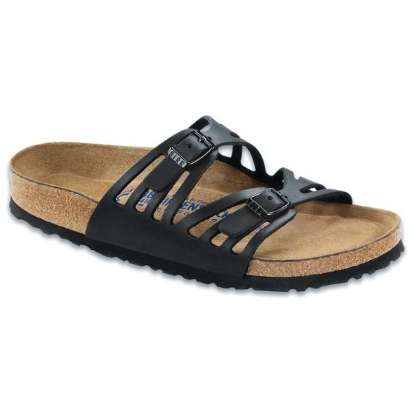 Birkenstock Granada - Soft Footbed Black Oiled