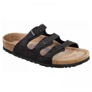 Birkenstock Florida - Soft Footbed Black Oiled
